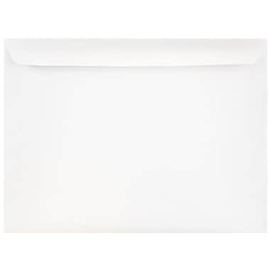 JAM Paper® 9 1/2 x 12 5/8 Booklet Envelopes, White, 25/pack (953454)