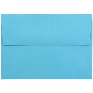 JAM Paper® 4bar A1 Envelopes, 3 5/8 x 5 1/8, Brite Hue Blue Recycled, 1000/carton (15805B)