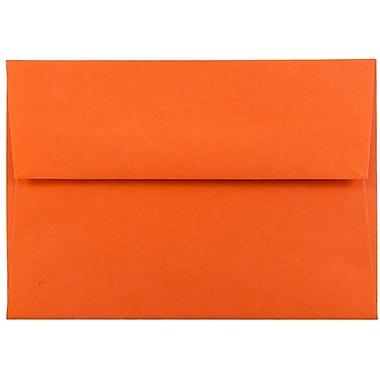 JAM Paper® 4bar A1 Envelopes, 3 5/8 x 5 1/8, Brite Hue Orange Recycled, 25/pack (15808)