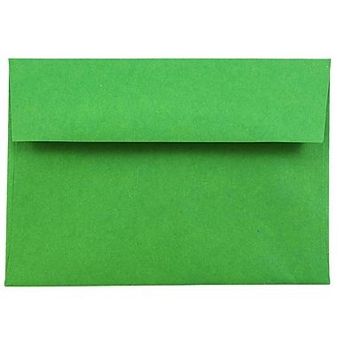 JAM Paper® 4bar A1 Envelopes, 3 5/8 x 5 1/8, Brite Hue Christmas Green Recycled, 1000/carton (15811B)