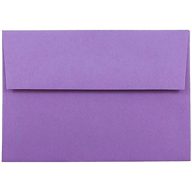 JAM Paper® 4bar A1 Envelopes, 3 5/8 x 5 1/8, Brite Hue Violet Purple Recycled, 1000/carton (15815B)