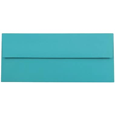JAM Paper® #10 Business Envelopes, 4 1/8 x 9 1/2, Brite Hue Sea Blue Recycled, 25/pack (15858)