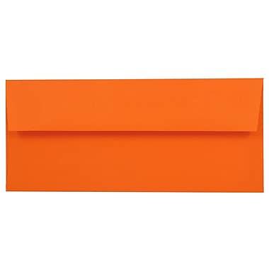 JAM Paper® #10 Business Envelopes, 4 1/8 x 9 1/2, Brite Hue Orange Recycled, 25/pack (15860)