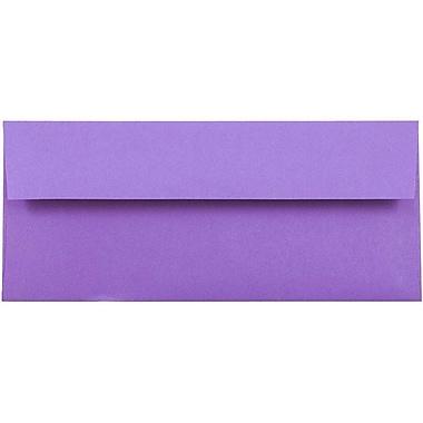 JAM Paper® #10 Business Envelopes, 4 1/8 x 9 1/2, Brite Hue Violet Purple Recycled, 25/pack (15864)