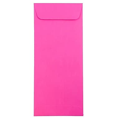 JAM Paper® #10 Policy Envelopes, 4 1/8 x 9 1/2, Brite Hue Ultra Fuchsia Pink, 25/pack (15865)