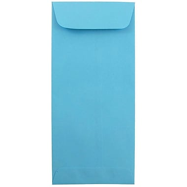 JAM Paper® #10 Policy Envelopes, 4 1/8 x 9 1/2, Brite Hue Blue Recycled, 1000/carton (15880B)