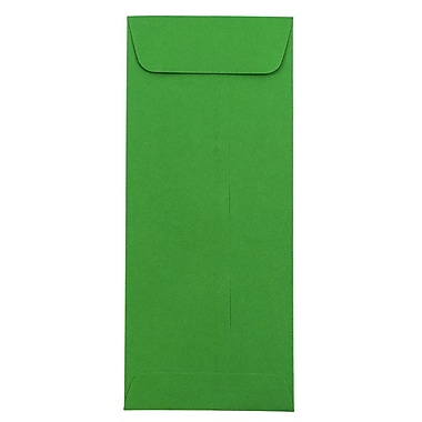 JAM Paper® #10 Policy Envelopes, 4 1/8 x 9 1/2, Brite Hue Green Recycled, 25/pack (15884)