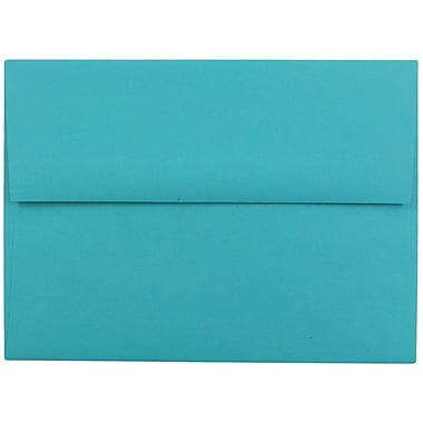 JAM Paper® A6 Invitation Envelopes, 4.75 x 6.5, Brite Hue Sea Blue Recycled, 25/pack (15903)