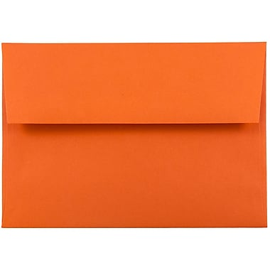 JAM Paper® A6 Invitation Envelopes, 4.75 x 6.5, Brite Hue Orange Recycled, 25/pack (15905)