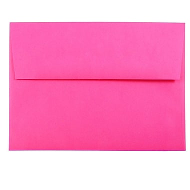 JAM Paper® A7 Invitation Envelopes, 5.25 x 7.25, Brite Hue Ultra Fuchsia Pink, 1000/carton (15916B)
