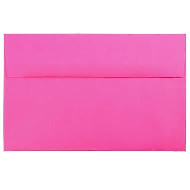 JAM Paper® A10 Invitation Envelopes, 6 x 9.5, Brite Hue Ultra Fuchsia Pink, 25/pack (16577)