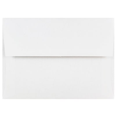 JAM Paper A6 Invitation Envelopes 4.75 x 6.5 White 25 pack 31820