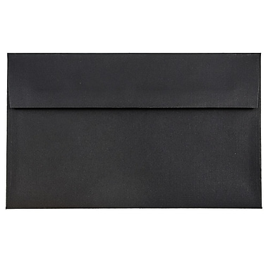JAM Paper® A10 Invitation Envelopes, 6 x 9.5s, Black Linen Recycled, 1000/carton (36168B)