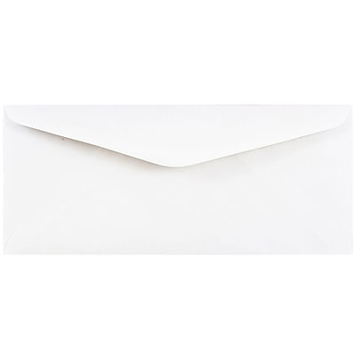 JAM Paper 11 Business Commercial Envelopes 4 1 2 x 10 3 8 White 25 pack 45179