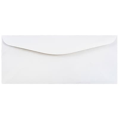 JAM Paper 12 Business Commercial Envelopes 4.75 x 11 White 25 pack 45195