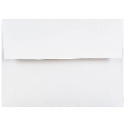 JAM Paper 4bar A1 Envelopes 3 5 8 x 5 1 8 White 25 pack 47385