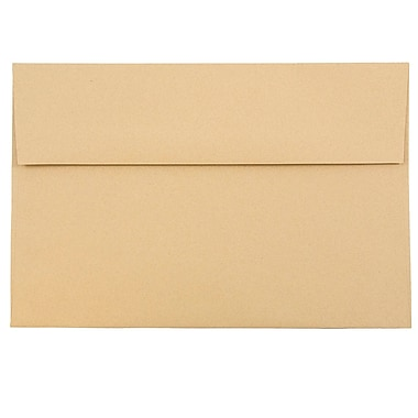 JAM Paper® A8 Invitation Envelopes, 5.5 x 8.125, Ginger Brown Recycled, 1000/carton (49355B)