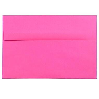 JAM Paper® A8 Invitation Envelopes, 5.5 x 8.125, Brite Hue Ultra Fuchsia Pink, 25/pack (58447)