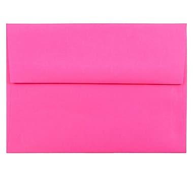 JAM Paper® A6 Invitation Envelopes, 4.75 x 6.5, Brite Hue Ultra Fuchsia Pink, 25/pack (60574)