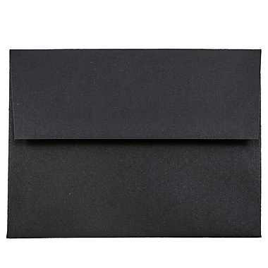 JAM Paper® A2 Invitation Envelopes, 4 3/8 x 5 3/4, Black Linen Recycled, 1000/carton (64345B)