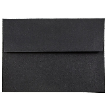 JAM Paper® A6 Invitation Envelopes, 4.75 x 6.5, Black Linen Recycled, 25/pack (68999)