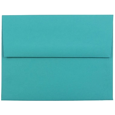 JAM Paper® A2 Invitation Envelopes, 4 3/8 x 5 3/4, Brite Hue Sea Blue Recycled, 1000/carton (70207B)