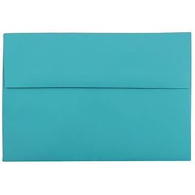 JAM Paper® A8 Invitation Envelopes, 5.5 x 8.125, Brite Hue Sea Blue Recycled, 25/pack (70231)