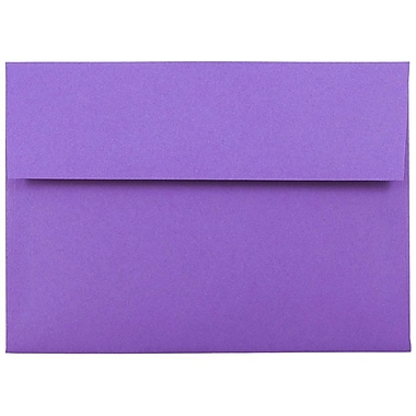 JAM Paper® A7 Invitation Envelopes, 5.25 x 7.25 Brite Hue Violet Purple Recycled, 1000/carton (80278B)