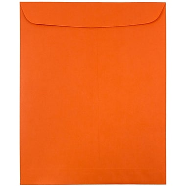 JAM Paper® 9 x 12 Open End Catalog Envelopes, Brite Hue Orange Recycled, 100/pack (80410)