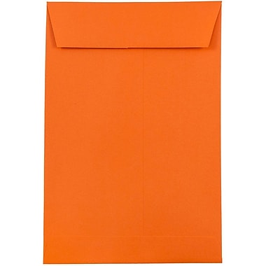 JAM Paper® 6 x 9 Open End Envelopes, Brite Hue Orange Recycled, 10/pack (88129B)