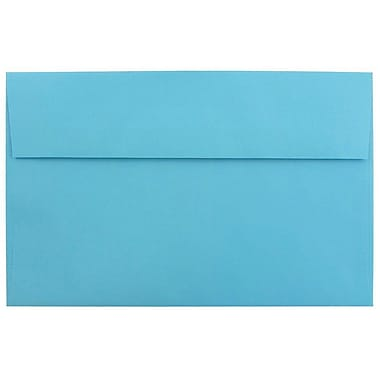 JAM Paper® A10 Invitation Envelopes, 6 x 9.5, Brite Hue Blue Recycled, 25/pack (95443)