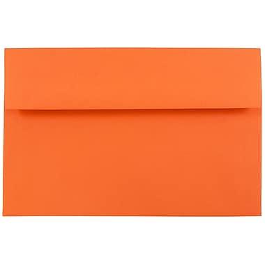 JAM Paper® A8 Invitation Envelopes, 5.5 x 8.125, Brite Hue Orange Recycled, 25/pack (95740)