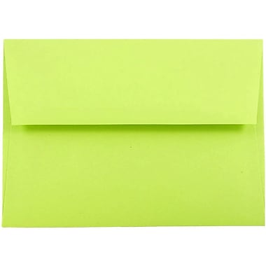 JAM Paper® A7 Invitation Envelopes, 5.25 x 7.25, Brite Hue Ultra Lime Green, 25/pack (96151)