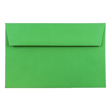 JAM Paper® A9 Invitation Envelopes, 5.75 x 8.75, Brite Hue Green Recycled, 1000/carton (98176B)