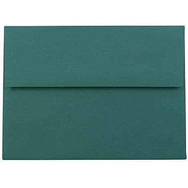 JAM Paper® A6 Invitation Envelopes, 4.75 x 6.5, Teal Blue, 25/pack (157462)