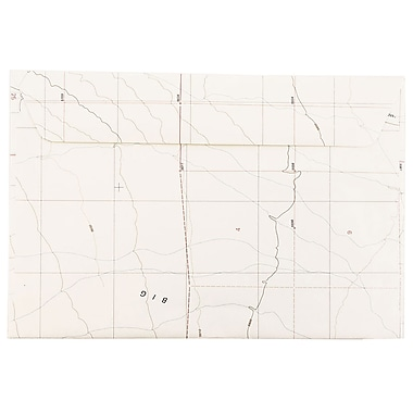 JAM Paper® A6 Invitation Envelopes, 4.75 x 6.5, Made with Real Map Surplus, 25/pack (163730)