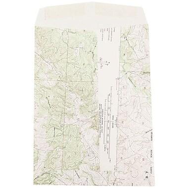 JAM PaperMD – Enveloppes ouvertes en papier texturé, 9 x 12 po, noir, 100 par boîte