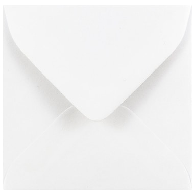 JAM Paper® 3.125 x 3.125 Mini Square Envelopes, White, 25/pack (3992308)