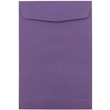 JAM Paper® 6 x 9 Open End Envelopes, Dark Purple, 100/pack (1287033C)