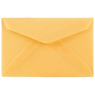JAM Paper® 3drug Mini Small Envelopes, 2 5/16 x 3 5/8, Gold Translucent Vellum, 100/pack (1591585A)