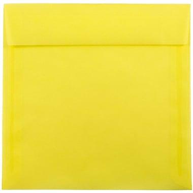 JAM Paper® 8.5 x 8.5 Square Envelopes, Yellow Translucent Vellum, 25/pack (1592162)
