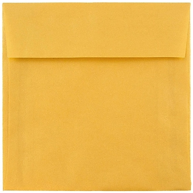JAM Paper® 8.5 x 8.5 Square Envelopes, Gold Translucent Vellum, 25/pack (PACV597)