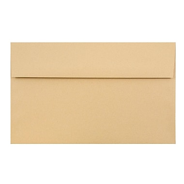 JAM Paper® A10 Invitation Envelopes, 6 x 9.5, Ginger Brown Recycled, 25/pack (2831489)
