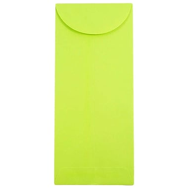JAM Paper® #11 Policy Envelopes, 4 1/2 x 10 3/8, Brite Hue Lime Green, 25/pack (3156392)