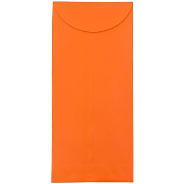 JAM Paper® #12 Policy Envelopes, 4.75 x 11, Brite Hue Orange Recycled, 25/pack (3156399)