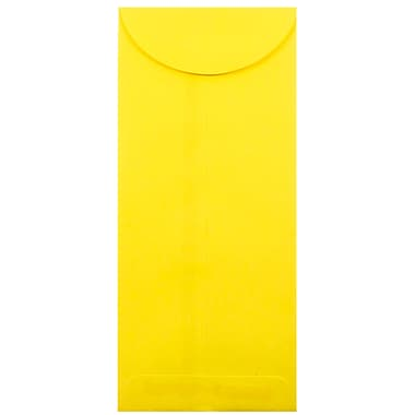 JAM Paper® #12 Policy Envelopes, 4.75 x 11, Brite Hue Yellow Recycled, 1000/carton (3156400B)