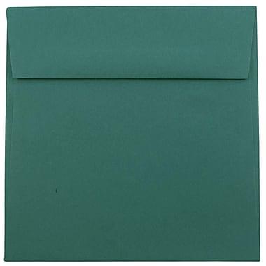 JAM Paper® 8.5 x 8.5 Square Envelopes, Teal Blue, 25/pack (3157507)