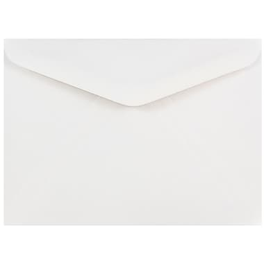 JAM Paper® A7 Invitation Envelopes, 5.25 x 7.25, White with V-Flap, 1000/carton (04023210B)