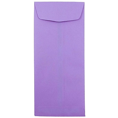 JAM Paper® #11 Policy Envelopes, 4 1/2 x 10 3/8, Barite Hue Violet Purple Recycled, 1000/carton (4156909B)