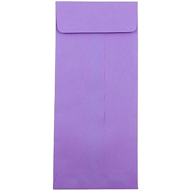 JAM Paper® #12 Policy Envelopes, 4.75 x 11, Brite Hue Violet Purple Recycled, 1000/carton (4156910B)